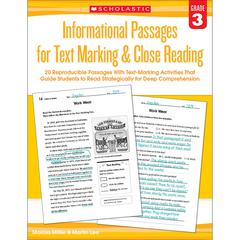 GR 3 INFORMATIONAL PASSAGES FOR TEXT MARKING & CLOSE READING
