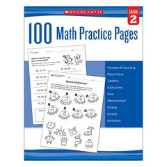 SCHOLASTIC TEACHING RESOURCES 101 MATH PRACTICE PAGES GR 2