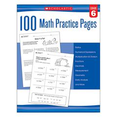 105 MATH PRACTICE PAGES GR 6