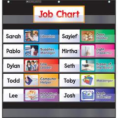 SCHOLASTIC TEACHING RESOURCES POCKET CHART CLASS JOBS BLACK