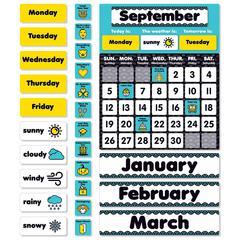 Aqua Oasis Calendar Bulletin Board
