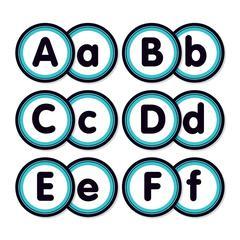 Aqua Oasis Alphabet Bulletin Board