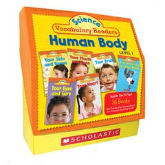 SCHOLASTIC TEACHING RESOURCES SCIENCE VOCABULARY READERS SET HUMAN BODY LEVEL 1