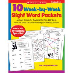 SCHOLASTIC TEACHING RESOURCES 10 WEEK BY WEEK SIGHT WORD PACKETS