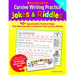 CURSIVE WRITING PRACTICE JOKES & RIDDLES