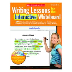 SCHOLASTIC TEACHING RESOURCES WRITING LESSONS FOR THE INTERACTIVE WHITEBOARD GR 2-4