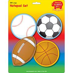 SPORTS SET LARGE NOTEPAD