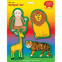 ZOO ANIMALS SET LARGE NOTEPAD