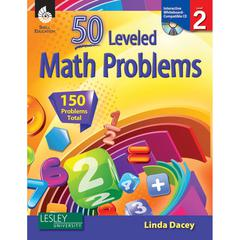 SHELL EDUCATION 50 LEVELED MATH PROBLEMS LEVEL 2 W/ CD