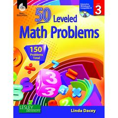 SHELL EDUCATION 50 LEVELED MATH PROBLEMS LEVEL 3 W/ CD