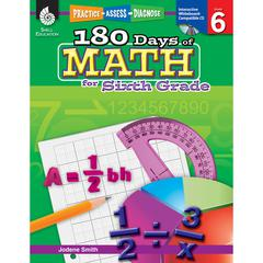 SHELL EDUCATION 180 DAYS OF MATH GR 6