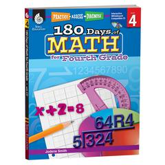 SHELL EDUCATION 180 DAYS OF MATH GR 4