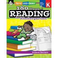 SHELL EDUCATION 180 DAYS OF READING BOOK FOR KINDERGARTEN