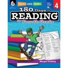 SHELL EDUCATION 180 DAYS OF READING BOOK FOR FOURTH GRADE