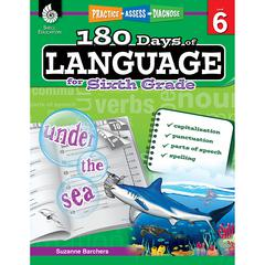 SHELL EDUCATION 180 DAYS OF LANGUAGE GR 6