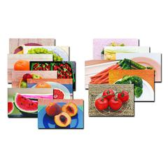 STAGES LEARNING MATERIALS FRUITS & VEGETABLES POSTER SET-14
