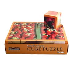 STAGES LEARNING MATERIALS FRUITS CUBE PUZZLE