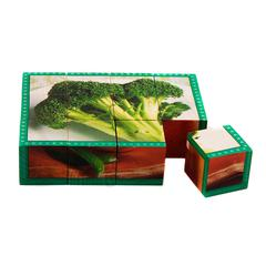 STAGES LEARNING MATERIALS VEGETABLES CUBE PUZZLE