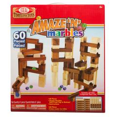 POOF PRODUCTS/ SLINKY AMAZE-N-MARBLES 60 PIECE SET