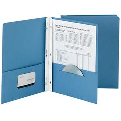 SMEAD MANUFACTURING SMEAD 25CT SKY BLUE TWO POCKET FOLDERS WITH FASTENERS
