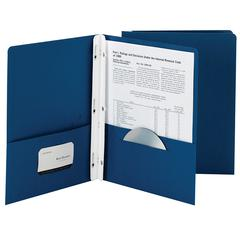 SMEAD MANUFACTURING SMEAD 25CT DARK BLUE TWO POCKET FOLDERS WITH FASTENERS
