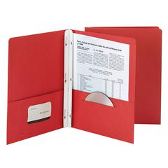 SMEAD MANUFACTURING SMEAD 25CT RED TWO POCKET FOLDERS WITH FASTENERS