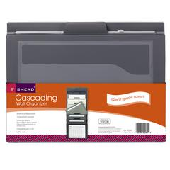 SMEAD CASCADING WALL ORGANIZER GRAY WITH NEUTRAL POCKETS