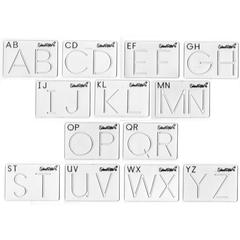 SCHOOL RITE BEGINNING ALPHABET TEMPLATES UPPER CASE