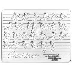 TEMPLATE CURSIVE UPPERCASE LETTERS