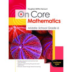 HOUGHTON MIFFLIN HARCOURT ON CORE MATHEMATICS BUNDLES GR 6