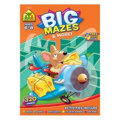 SCHOOL ZONE PUBLISHING BIG MAZES & MORE WORKBOOK