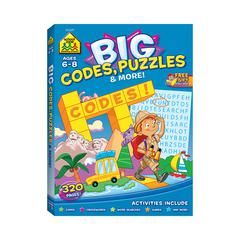 SCHOOL ZONE PUBLISHING BIG WORKBOOK ALPHABET CODES PUZZLES & MORE