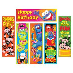 TREND ENTERPRISES CLEVER CHARACTERS BOOKMARKS VARIETY PACK