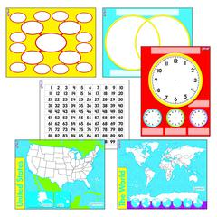 TREND ENTERPRISES WIPE OFF CHARTS & MAPS COMBO PACK