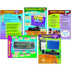 TREND ENTERPRISES COMPUTER SKILLS COMBO PACK CHARTS GR 2-6