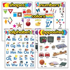 COMBO PKS K BASIC SKILLS ALPHABET SHAPES NUMBERS COLORS & OPPOSITES