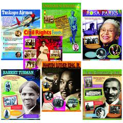 TREND ENTERPRISES AFRICAN-AMERICAN HISTORY CHARTS COMBO PACK