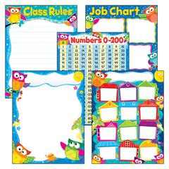 MORE CLASSROOM BASICS OWL-STARS LEARNING CHARTS COMBO PACK