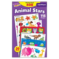 ANIMAL STAR LG VARIETY PK STICKERS SUPERSHAPES