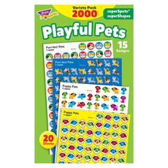 PLAYFUL PETS VARIETY PACK STICKERS SUPERSPOTS/ SUPERSHAPES