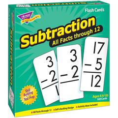 TREND ENTERPRISES FLASH CARDS ALL FACTS 169/BOX 0-12 SUBTRACTION