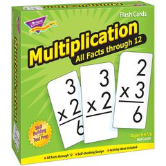 TREND ENTERPRISES FLASH CARDS ALL FACTS 169/BOX 0-12 MULTIPLICATION