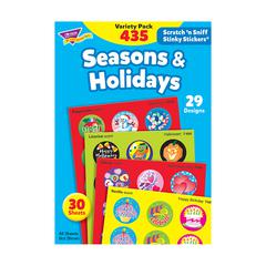 STINKY STICKERS SEASONS & 432/PK HOLIDAYS JUMBO VARIETY