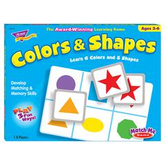 TREND ENTERPRISES MATCH ME GAME COLORS & SHAPES AGES 3 & UP 1-8 PLAYERS