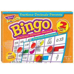 TREND ENTERPRISES FRACTIONS DECIMALS & PERCENTS BINGO GAME