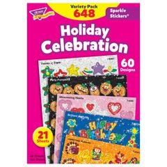 TREND ENTERPRISES HOLIDAY CELEBRATION SPARKLE STICKERS