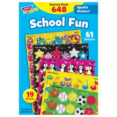 TREND ENTERPRISES SPARKLE STICKERS SCHOOL FUN