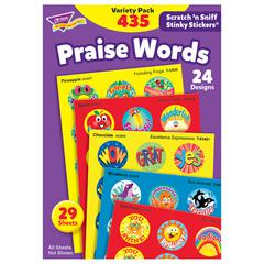 TREND ENTERPRISES STINKY STICKERS PRAISE WORDS 435/PK JUMBO ACID-FREE VARIETY PK