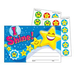 STINKY STICKERS AWARD I SHINE EMOJI SCRATCH N SNIFF