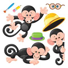 TREND ENTERPRISES MONKEY MISCHIEF BB SET